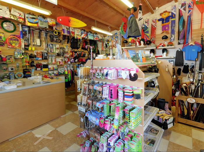 What is stocked in the ideal campsite shop? Pitton11