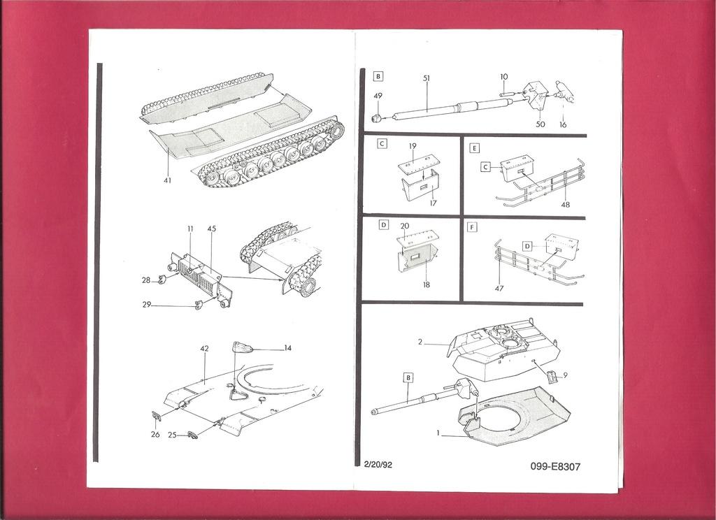 [ESCI ERTL] Char ABRAMS M1 1/72ème Réf 8307 Notice Esci_e11