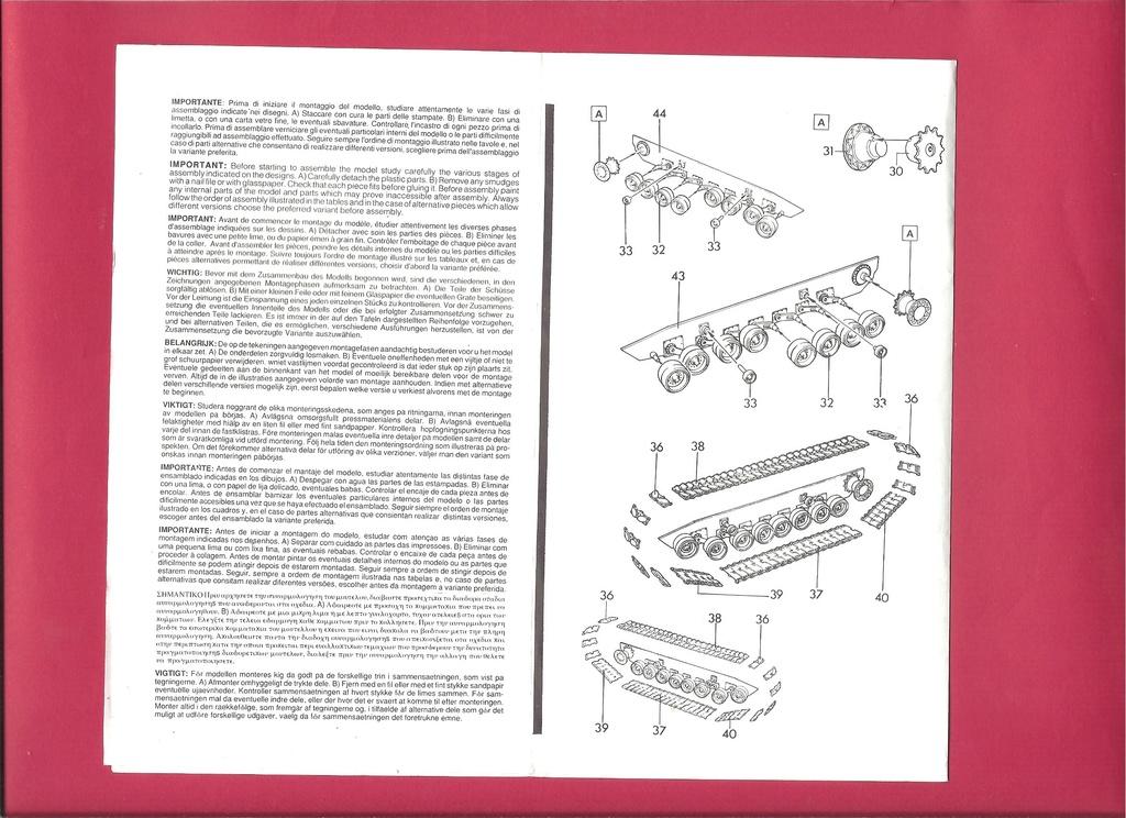 [ESCI ERTL] Char ABRAMS M1 1/72ème Réf 8307 Notice Esci_e12