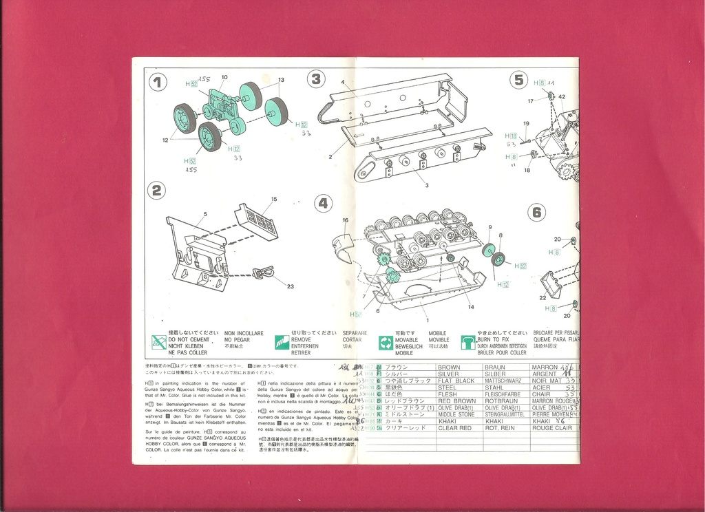 [HASEGAWA] Char M4 (A3E8) SHERMAN 1/72ème Réf MT 15 Notice Hasega14