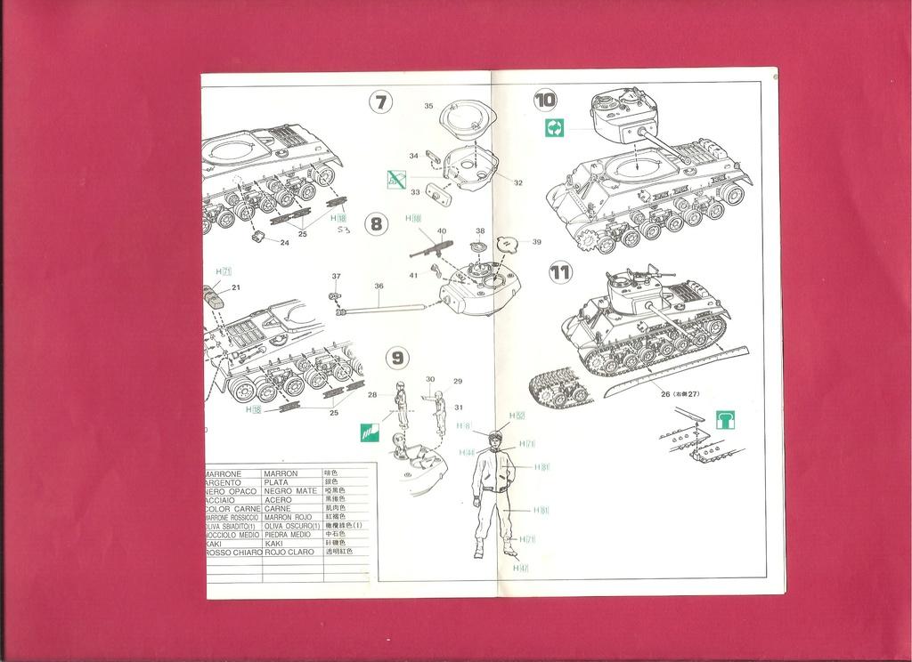[HASEGAWA] Char M4 (A3E8) SHERMAN 1/72ème Réf MT 15 Notice Hasega15