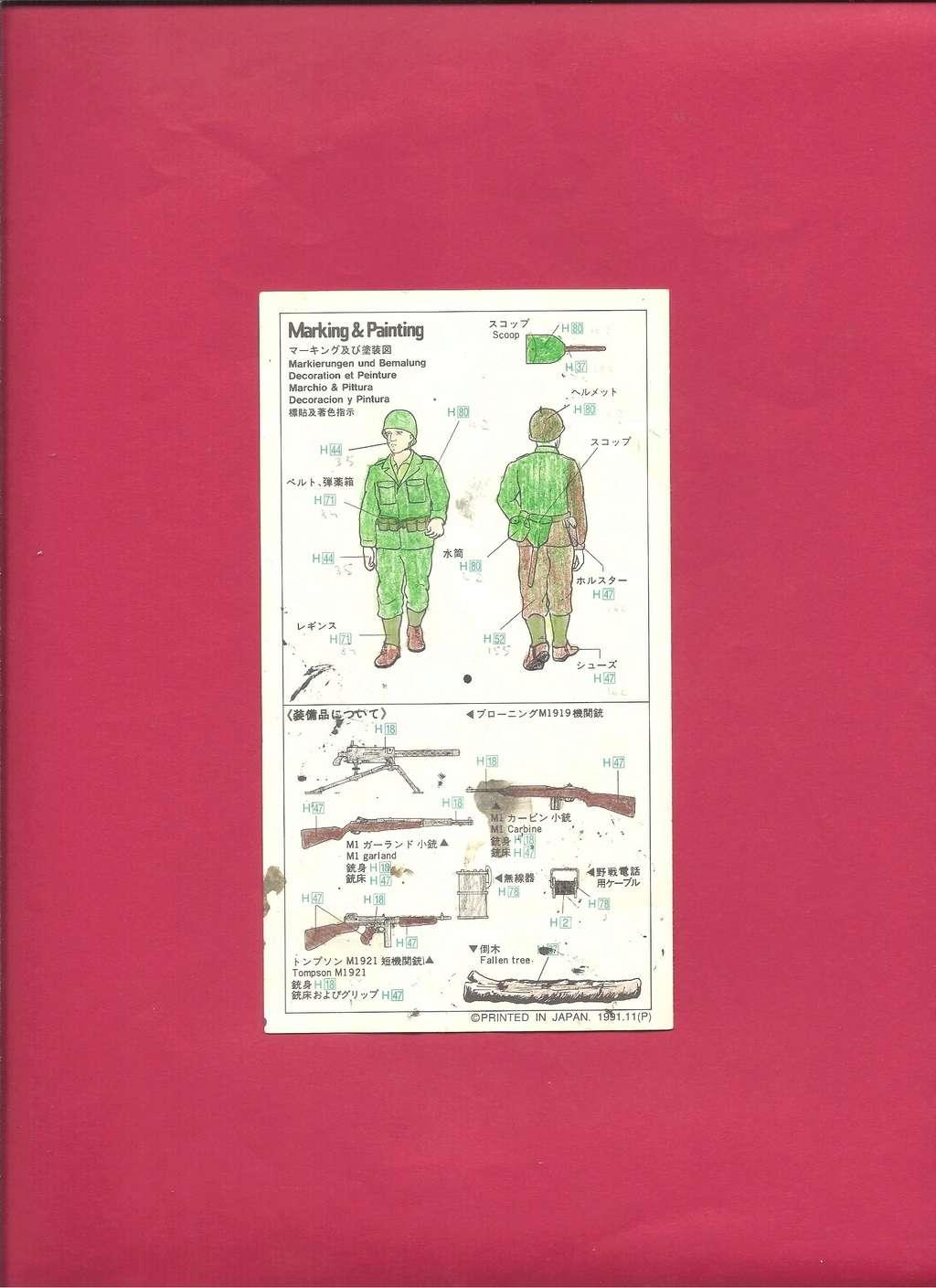 [HASEGAWA] Infanterie US 1/72ème Réf MT29 Notice Hasega23