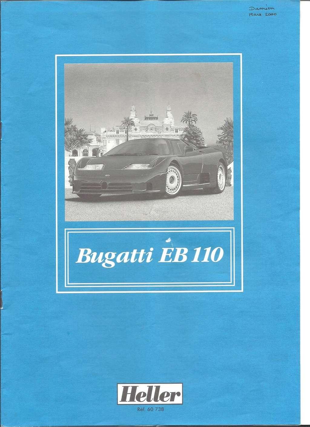 BUGATTI EB 110 1/24ème Ref 60738 Notice Helle153