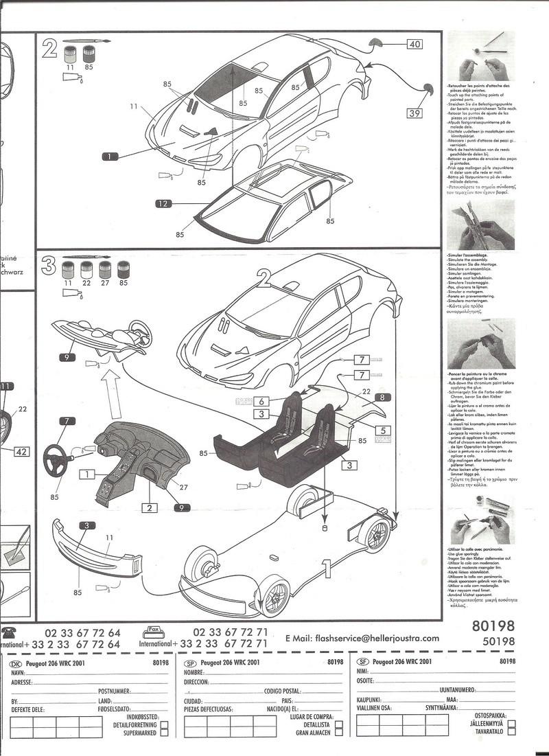 PEUGEOT 206 WRC 1/43ème Ref 80198 Notice Helle181