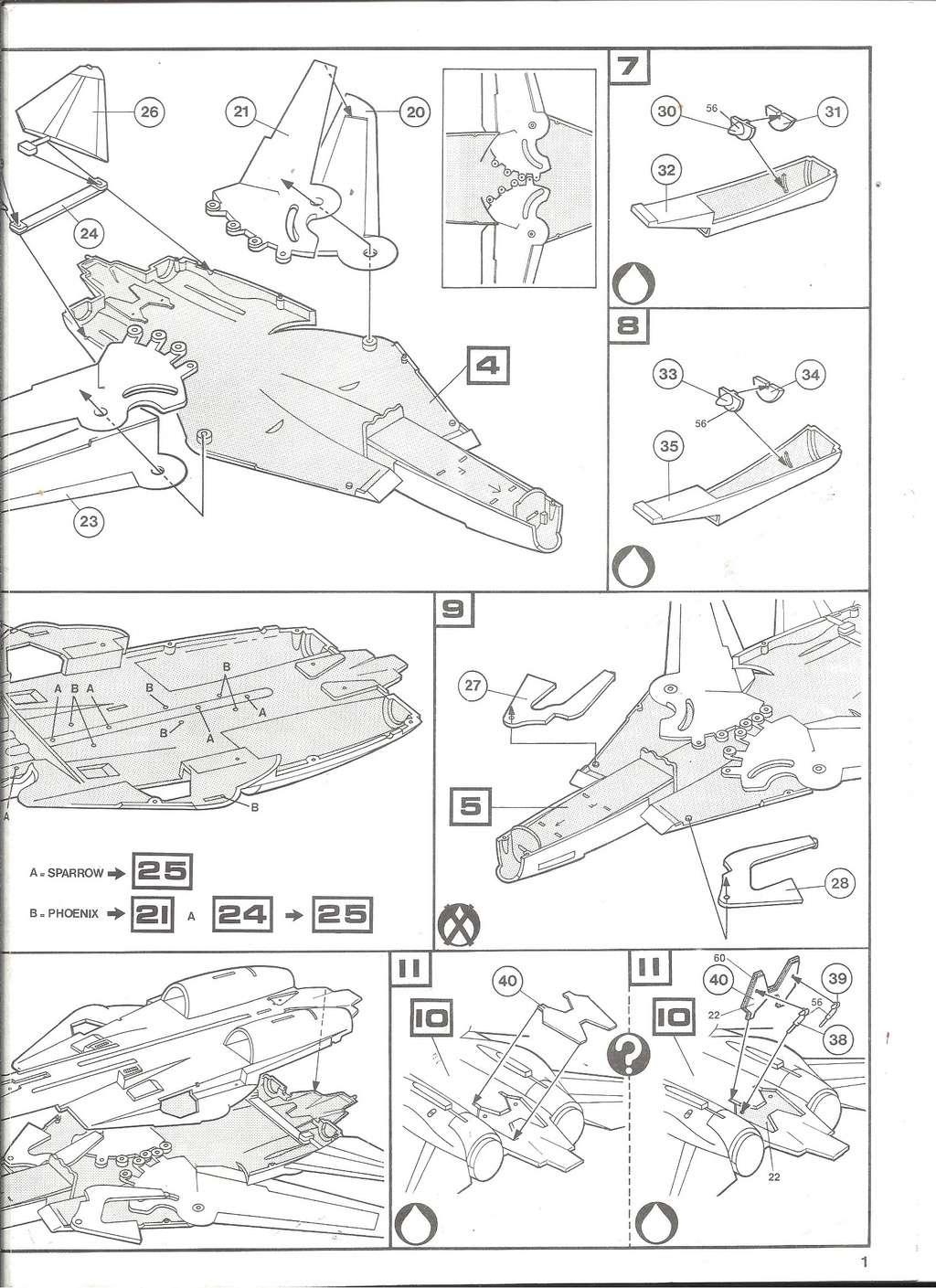 GRUMMAN F 14 A 1/72ème Réf 80335 Notice Helle185