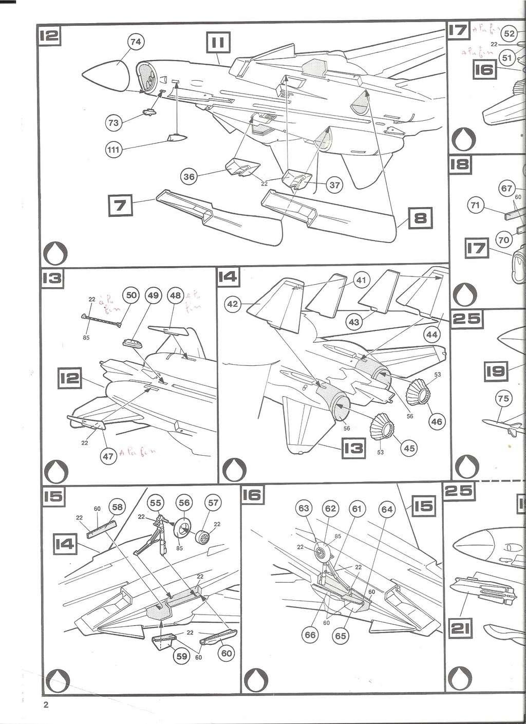 GRUMMAN F 14 A 1/72ème Réf 80335 Notice Helle186