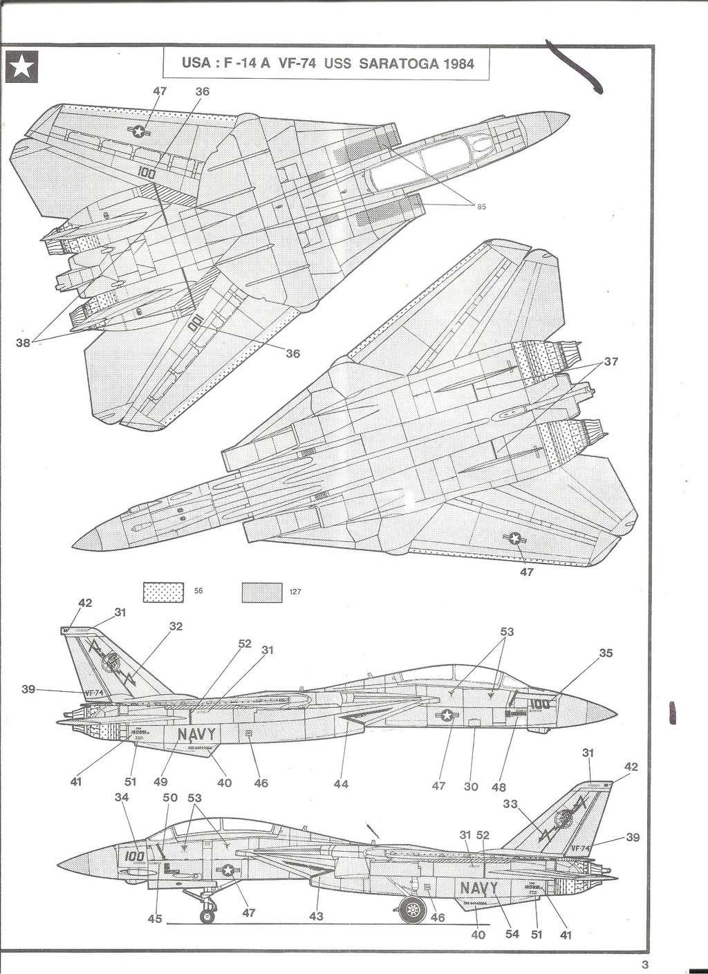 GRUMMAN F 14 A 1/72ème Réf 80335 Notice Helle192