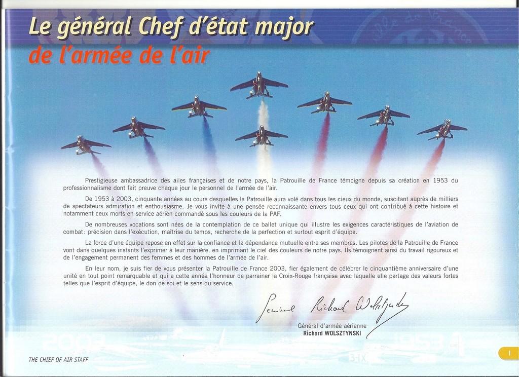 Patrouille de FRANCE 1/72ème Ref 52303 Notice Helle288