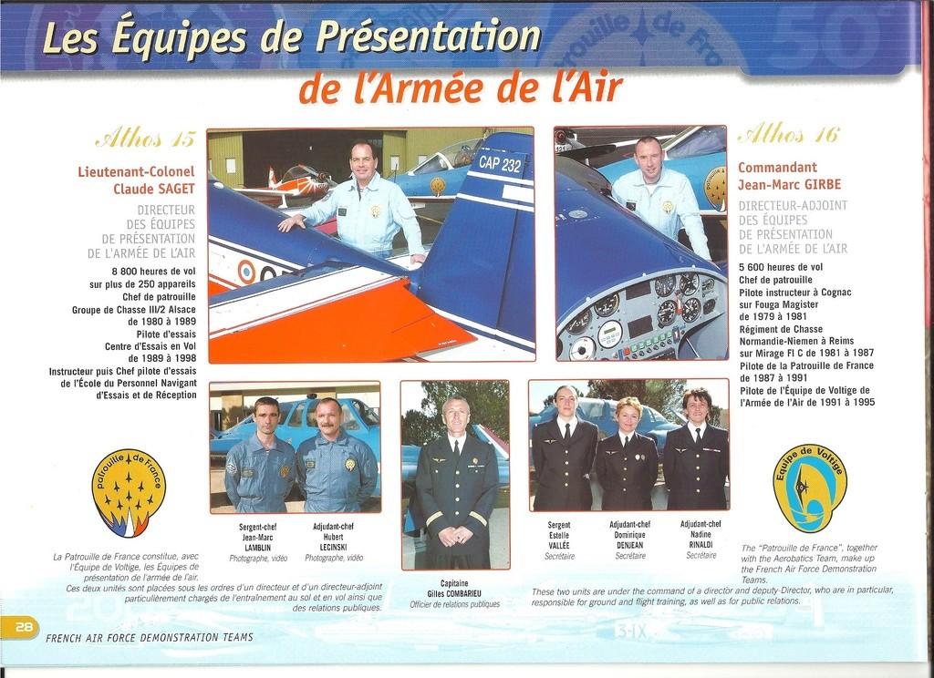 Patrouille de FRANCE 1/72ème Ref 52303 Notice Helle301