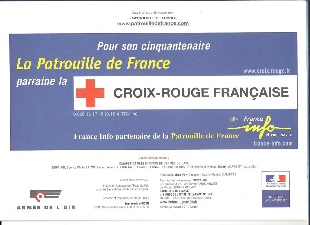 Patrouille de FRANCE 1/72ème Ref 52303 Notice Helle307