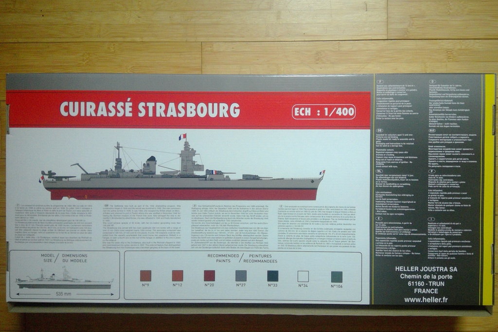 Cuirassé STRASBOURG 1/400 Réf 81082 Helle315