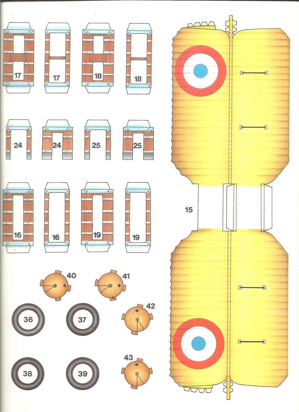 [LAROUSSE ] Maquette cartonnée n°1 SPAD VII au 1/30ème  Larous21