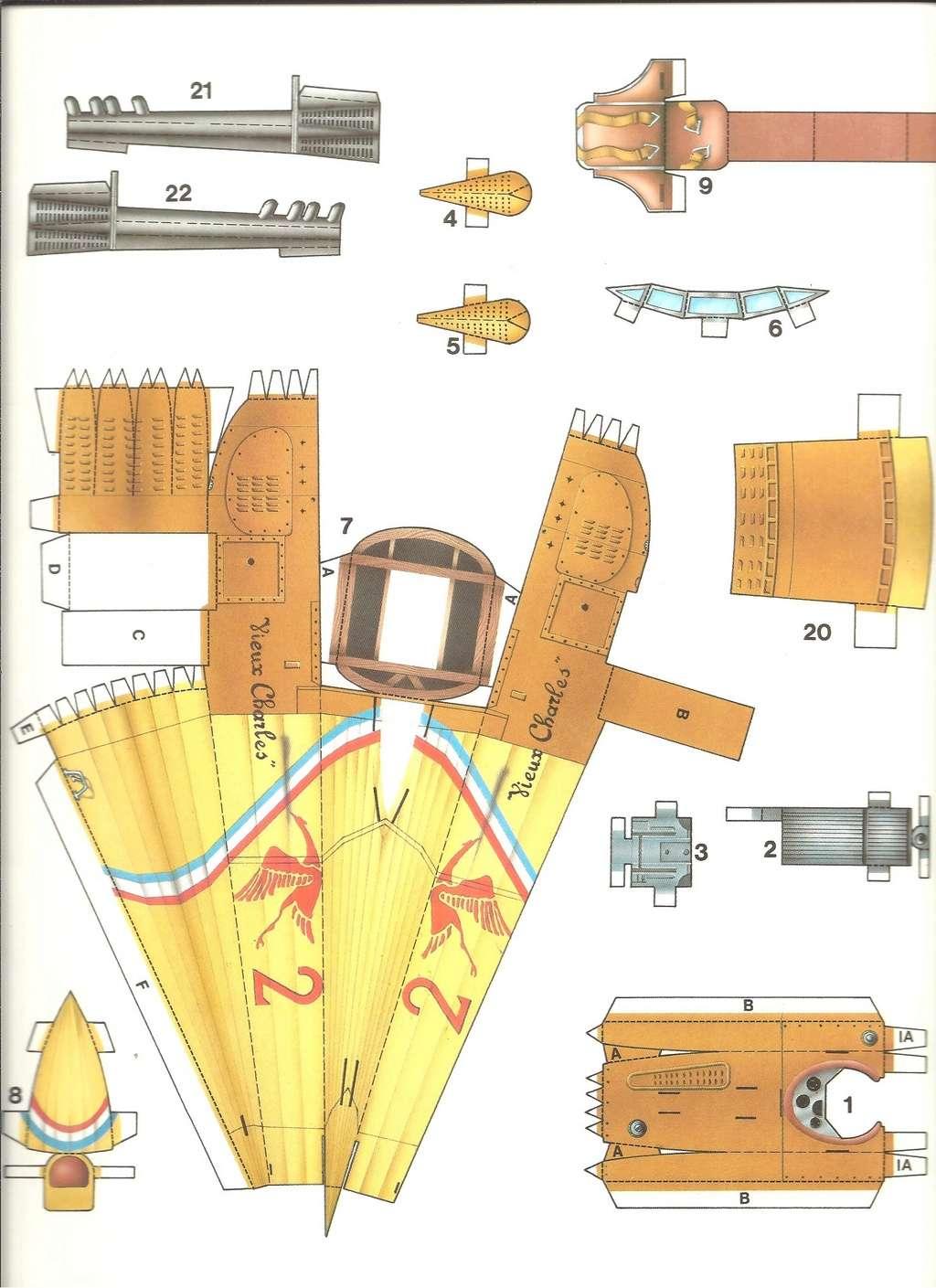 [LAROUSSE ] Maquette cartonnée n°1 SPAD VII au 1/30ème  Larous22