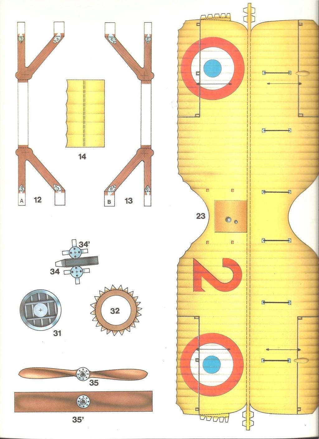 [LAROUSSE ] Maquette cartonnée n°1 SPAD VII au 1/30ème  Larous23
