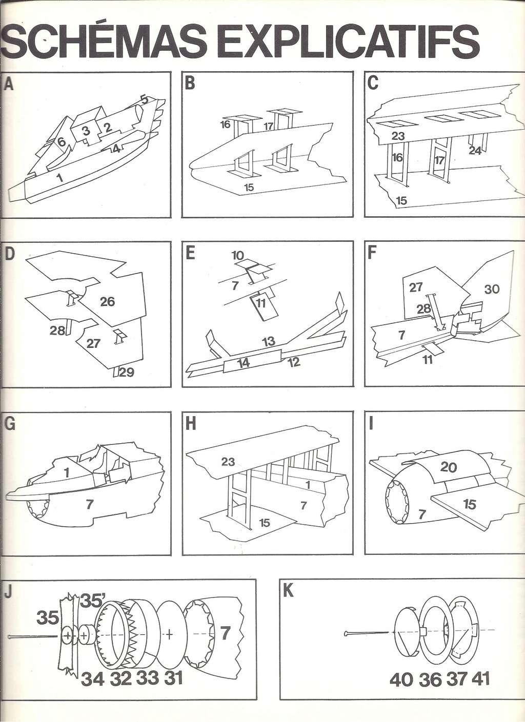 [LAROUSSE ] Maquette cartonnée n°1 SPAD VII au 1/30ème  Larous24