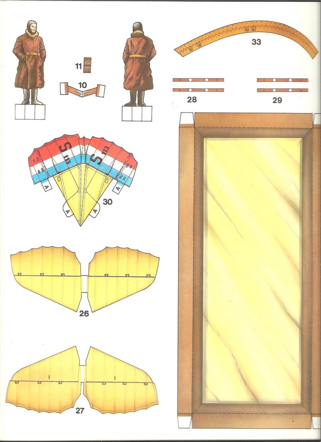 [LAROUSSE ] Maquette cartonnée n°1 SPAD VII au 1/30ème  Larous25