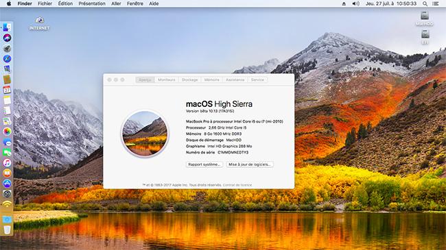 MacOS High Sierra HD Xx10