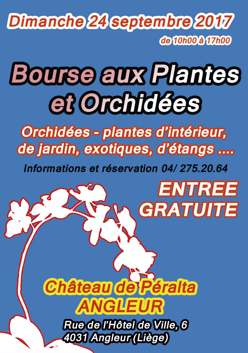 Bourse aux Plantes et Orchidées à Liège (Belgique) Affich10