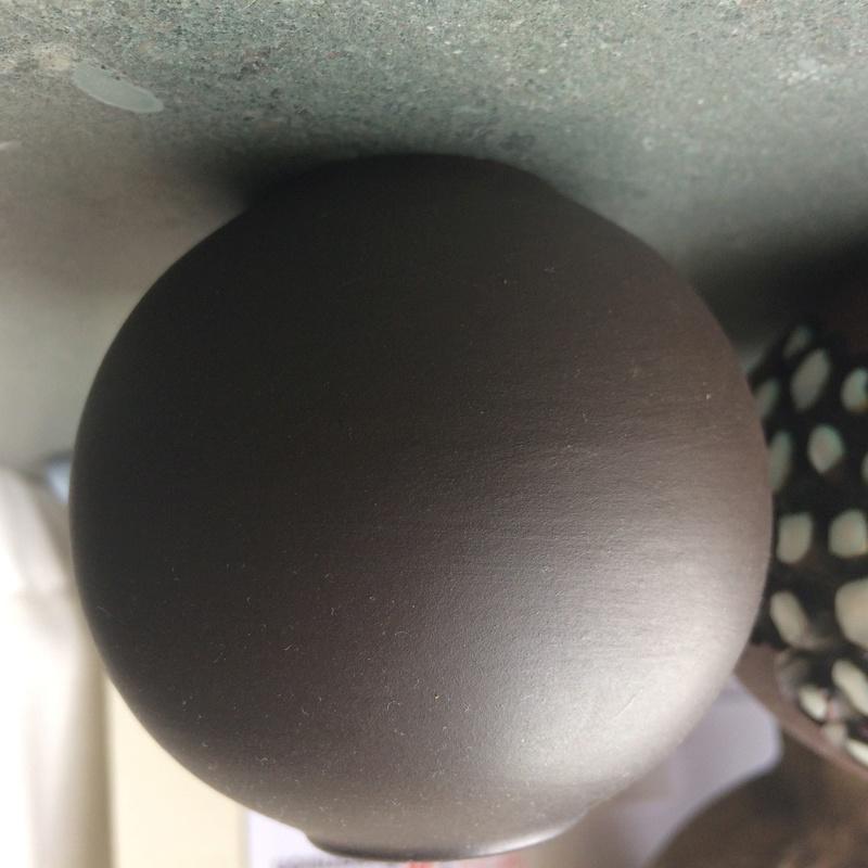Small spherical vase with matt dark brown glaze - Wormser Terra-sigillata Img_4512