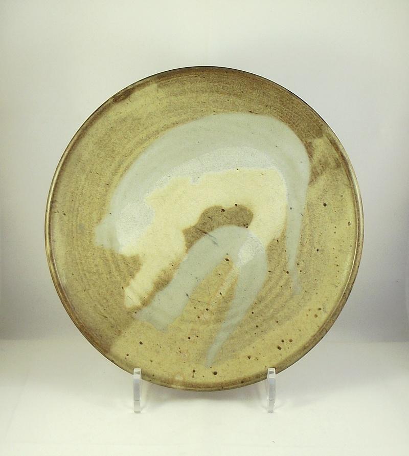 Stoneware Plate Incised Mark SC Dscf4210