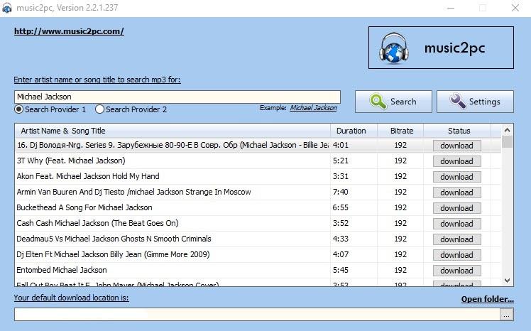 music2pc 2.2.3.244 - Κατεβάστε δωρεάν πάνω από 100 εκατομμύρια mp3 τραγούδια 16i7i910