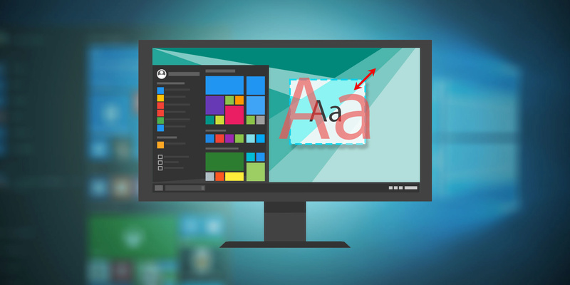 Windows 10: Αλλαγή μεγέθους κειμένου και γραμματοσειράς Change10