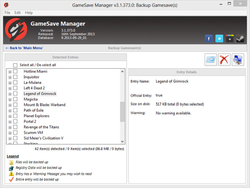 GameSave Manager 3.1.449.0 Gamesa10