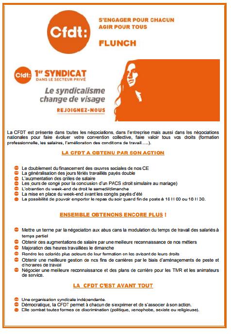 Affichage C.F.D.T élections professionnelles FLUNCH 2017 Tract_11