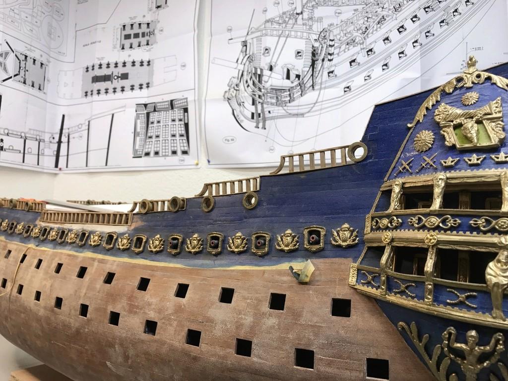 Le Soleil Royal im Maßstab 1:50 nach Plänen von Mantua gebaut von Peter Fischer - Seite 6 Img_0511