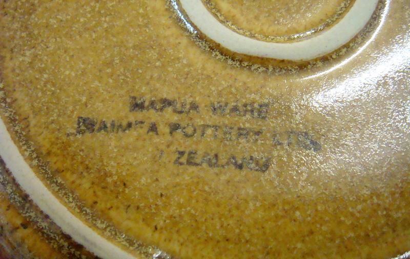 mapua - Unusual Mapua ware pate dish and saucer Dsc07313