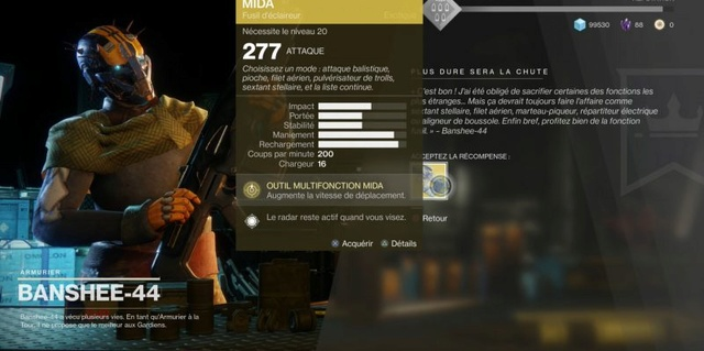 Obtenir le fusil d'éclaireur exotique Outil Multifonction MIDA. Destin20