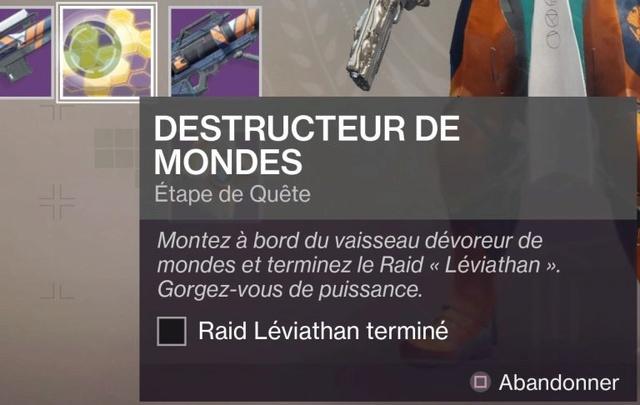 Obtenir le fusil à pompe exotique Légende d'Acrius Destin28