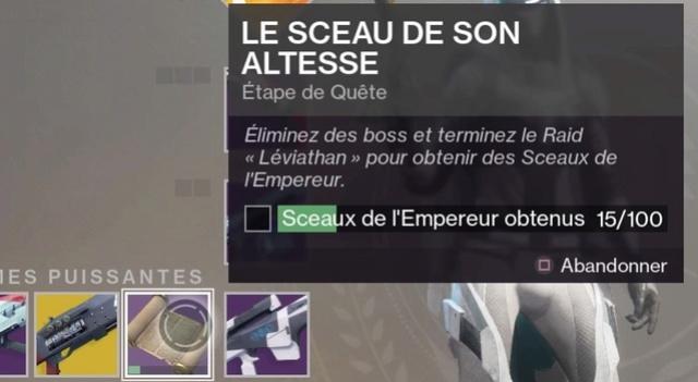 Obtenir le fusil à pompe exotique Légende d'Acrius Destin31