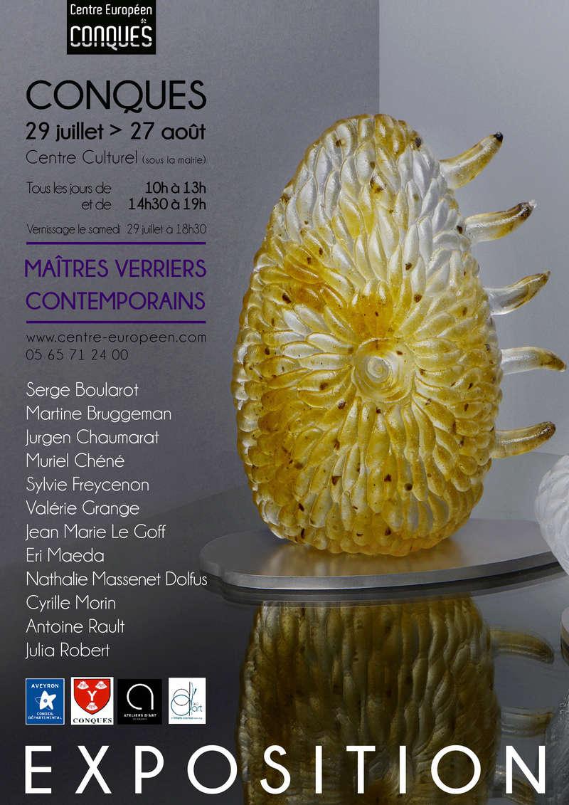 Expos Verre Contemporains  Affich10