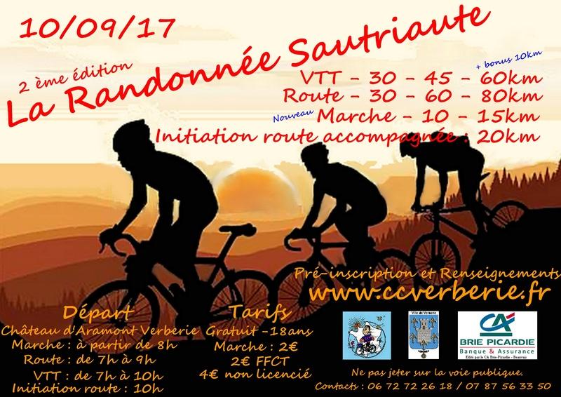 [60]Verberie La randonnée Sautriaute 10/09/2017 Affich10