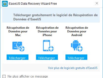 Easeus Data Recovery Wizard : récupérer des fichiers effacés Popup11