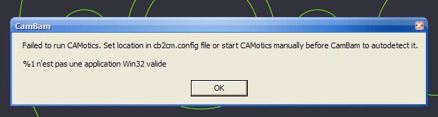 Problème d'ouverture de Camotic avec Cambam Erreur11