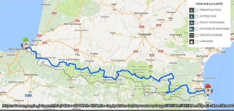 Pascal85 fait la route des cols Pyrénéens (930 km, 36 cols) départ 26 juin, arrivée 3 juillet Carte_10