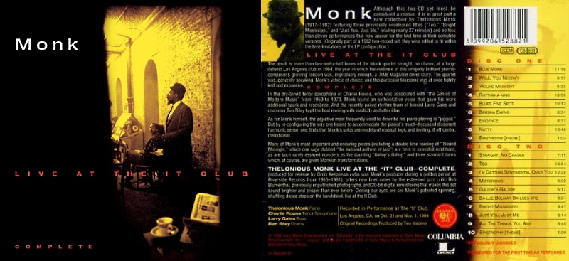 [Jazz] Playlist Monk_114