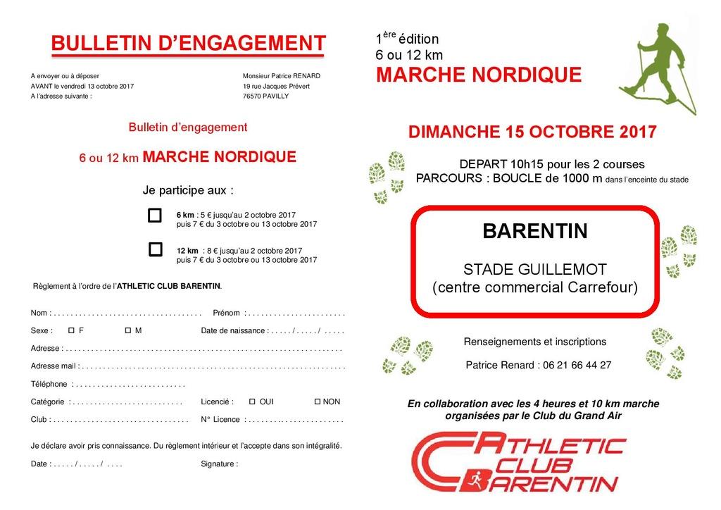Marche nordique de l' AC Barentin : Compétitions de 12kms classée et de 6 kms non classée Barent11
