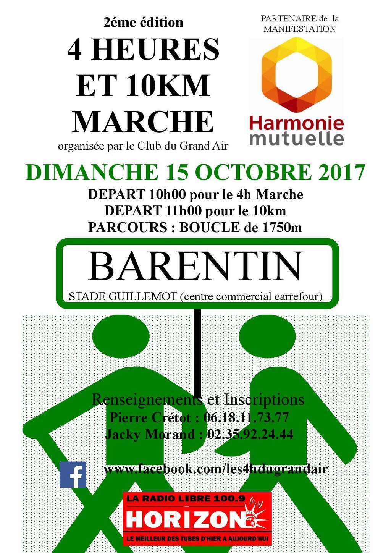 Marche nordique de l' AC Barentin : Compétitions de 12kms classée et de 6 kms non classée Barent14
