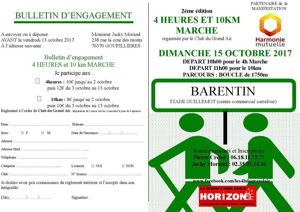 Marche nordique de l' AC Barentin : Compétitions de 12kms classée et de 6 kms non classée Barent15