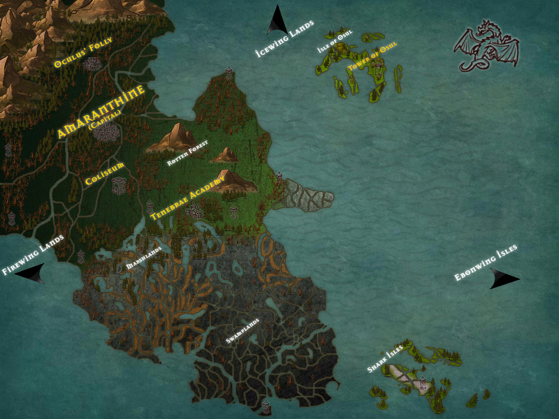 Maps of the Nightwing Homeland and Ebonwing Isles  B8f01010