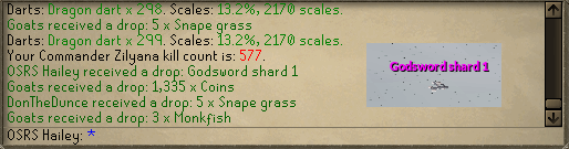 Saradomin Boss Log - Road to 500M Tab (or PET) Shard110