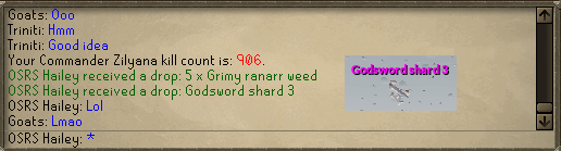 Saradomin Boss Log - Road to 500M Tab (or PET) Shard410