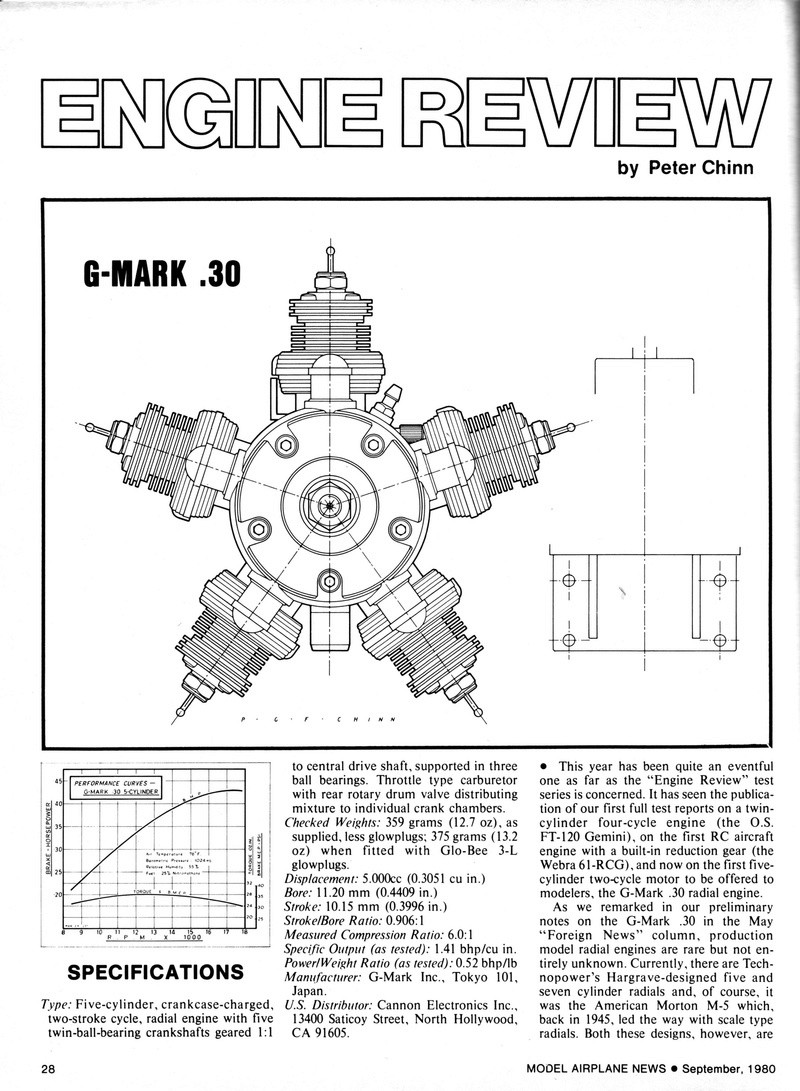 G-Mark 5 Cylinder Radial .030 Man09812