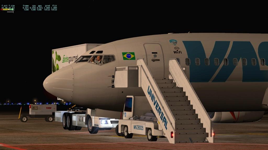 Corujão, LON-CTB-POA a bordo do IXEG 310