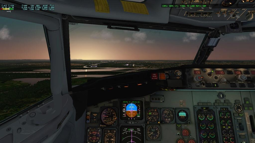 Corujão, LON-CTB-POA a bordo do IXEG 610