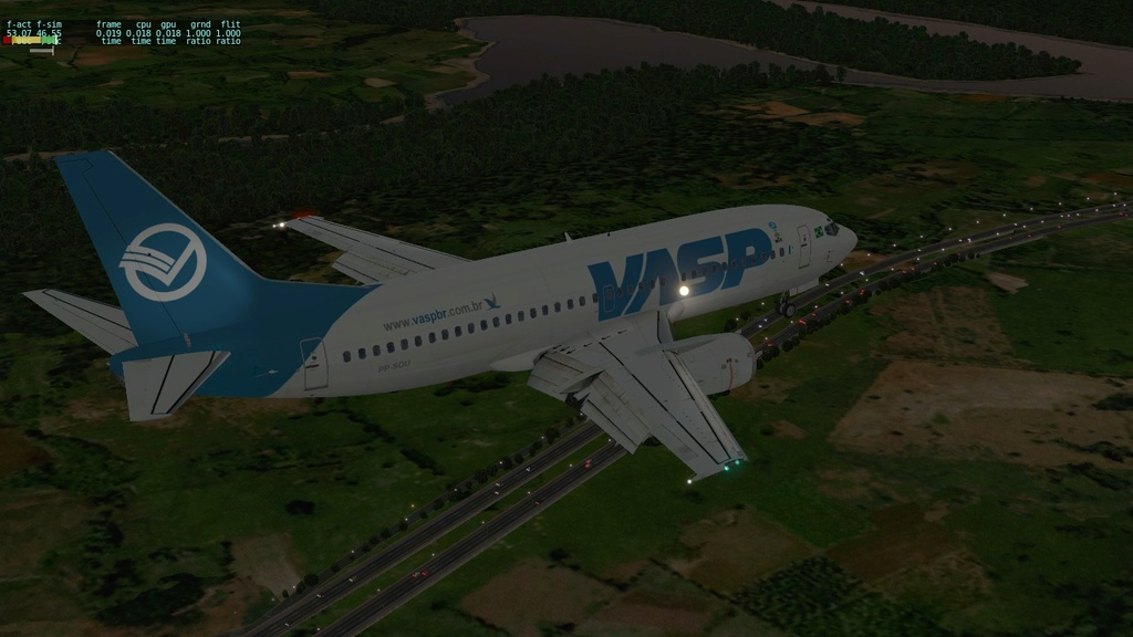 Corujão, LON-CTB-POA a bordo do IXEG 710