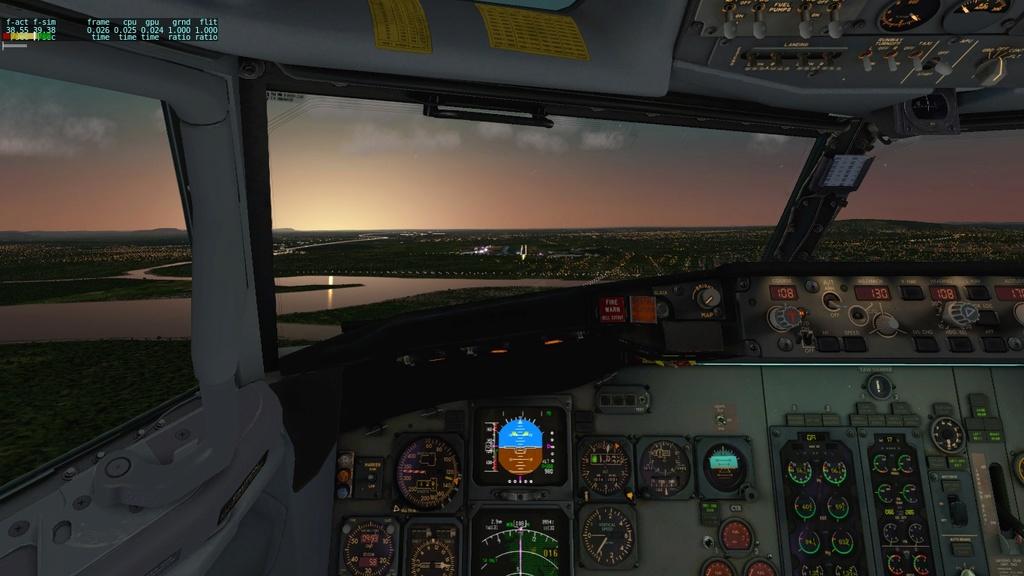 Corujão, LON-CTB-POA a bordo do IXEG 810